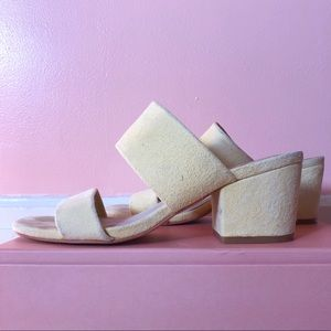 Sol Sana Butter Yellow Suede Mules
